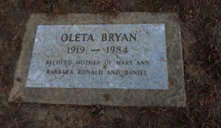 BRYAN, OLETA - Washington County, Oregon | OLETA BRYAN - Oregon Gravestone Photos