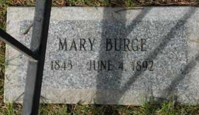 BURGE, MARY - Washington County, Oregon | MARY BURGE - Oregon Gravestone Photos