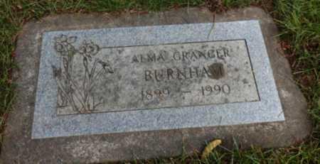 GRANGER BURNHAM, ALMA - Washington County, Oregon | ALMA GRANGER BURNHAM - Oregon Gravestone Photos