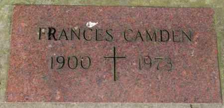 CAMDEN, FRANCES - Washington County, Oregon | FRANCES CAMDEN - Oregon Gravestone Photos