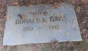 DAVIS, DONALD E - Washington County, Oregon | DONALD E DAVIS - Oregon Gravestone Photos