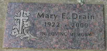 DRAIN, MARY E. - Washington County, Oregon   MARY E. DRAIN - Oregon Gravestone Photos