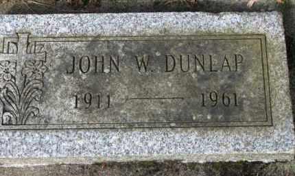 DUNLAP, JOHN W. - Washington County, Oregon | JOHN W. DUNLAP - Oregon Gravestone Photos