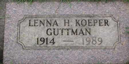 GUTTMAN, LENNA H - Washington County, Oregon | LENNA H GUTTMAN - Oregon Gravestone Photos