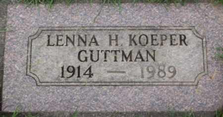 KOEPER GUTTMAN, LENNA H. - Washington County, Oregon | LENNA H. KOEPER GUTTMAN - Oregon Gravestone Photos