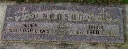 HANSON, ANNA C - Washington County, Oregon   ANNA C HANSON - Oregon Gravestone Photos