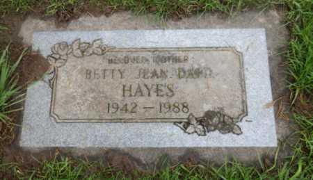 HAYES, BETTY JEAN - Washington County, Oregon | BETTY JEAN HAYES - Oregon Gravestone Photos