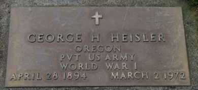 HEISLER, GEORGE H. - Washington County, Oregon | GEORGE H. HEISLER - Oregon Gravestone Photos