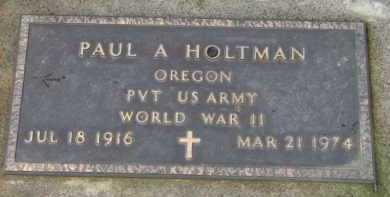 HOLTMAN (WWII), PAUL A. - Washington County, Oregon | PAUL A. HOLTMAN (WWII) - Oregon Gravestone Photos