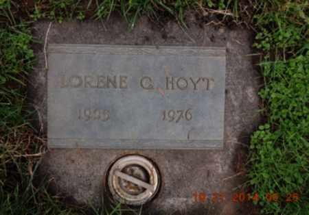 HOYT, LORENE C - Washington County, Oregon   LORENE C HOYT - Oregon Gravestone Photos