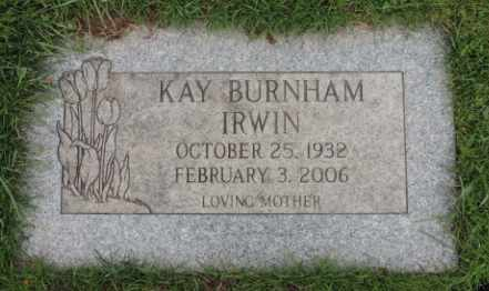 BURNHAM, KAY - Washington County, Oregon | KAY BURNHAM - Oregon Gravestone Photos