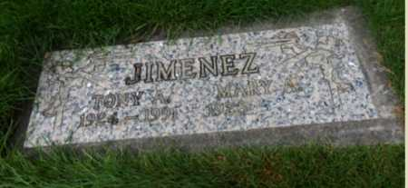 JIMENEZ, TONY A. - Washington County, Oregon   TONY A. JIMENEZ - Oregon Gravestone Photos