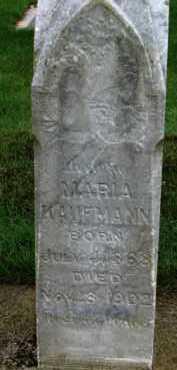 KAUFMANN, MARIA - Washington County, Oregon | MARIA KAUFMANN - Oregon Gravestone Photos