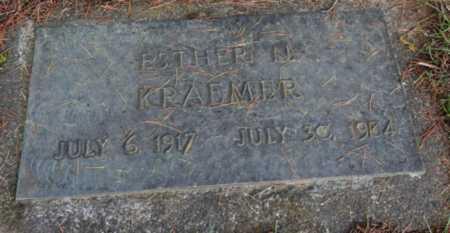 KRAEMER, ESTHER N - Washington County, Oregon | ESTHER N KRAEMER - Oregon Gravestone Photos