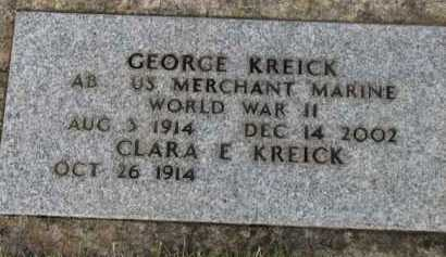 KREICK (WWII), GEORGE - Washington County, Oregon | GEORGE KREICK (WWII) - Oregon Gravestone Photos