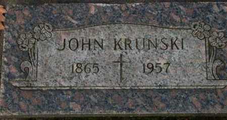 KRUNSKI, JOHN - Washington County, Oregon   JOHN KRUNSKI - Oregon Gravestone Photos