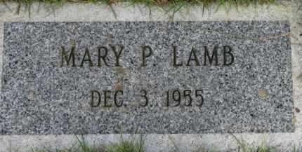 LAMB, MARY P. - Washington County, Oregon | MARY P. LAMB - Oregon Gravestone Photos