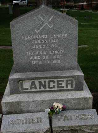 LANGER, FERDINAND - Washington County, Oregon | FERDINAND LANGER - Oregon Gravestone Photos