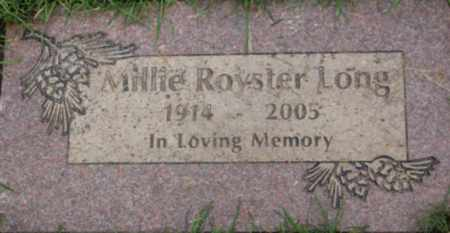ROYSTER LONG, MILLIE - Washington County, Oregon | MILLIE ROYSTER LONG - Oregon Gravestone Photos