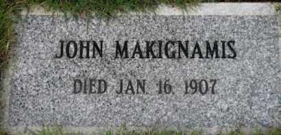 MAKIGNAMIS, JOHN - Washington County, Oregon | JOHN MAKIGNAMIS - Oregon Gravestone Photos