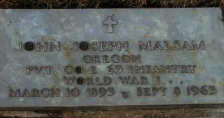 MALSAM (WWI), JOHN JOSEPH - Washington County, Oregon | JOHN JOSEPH MALSAM (WWI) - Oregon Gravestone Photos