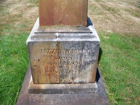 MEEK, LIZZIE W - Washington County, Oregon | LIZZIE W MEEK - Oregon Gravestone Photos