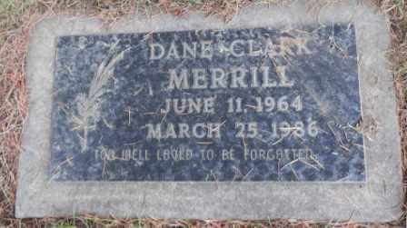 MERRILL, DANE CLARK - Washington County, Oregon   DANE CLARK MERRILL - Oregon Gravestone Photos