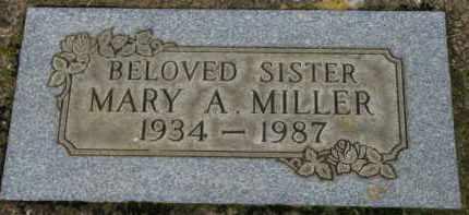 MILLER, MARY A. - Washington County, Oregon   MARY A. MILLER - Oregon Gravestone Photos