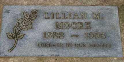 MOORE, LILLIAN M. - Washington County, Oregon | LILLIAN M. MOORE - Oregon Gravestone Photos