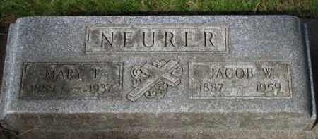 NEURER, JACOB W. - Washington County, Oregon   JACOB W. NEURER - Oregon Gravestone Photos