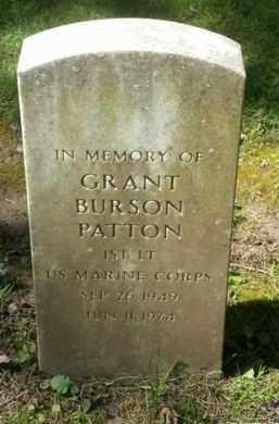 PATTON (SERV), GRANT BURSON - Washington County, Oregon   GRANT BURSON PATTON (SERV) - Oregon Gravestone Photos