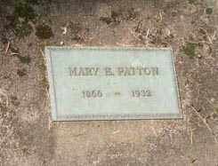 PATTON, MARY E. - Washington County, Oregon   MARY E. PATTON - Oregon Gravestone Photos