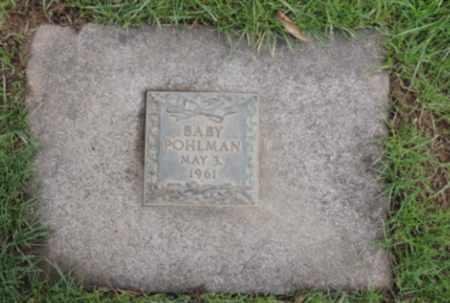 POHLMAN, BABY - Washington County, Oregon   BABY POHLMAN - Oregon Gravestone Photos