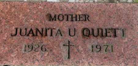 QUIETT, JUANITA U. - Washington County, Oregon   JUANITA U. QUIETT - Oregon Gravestone Photos