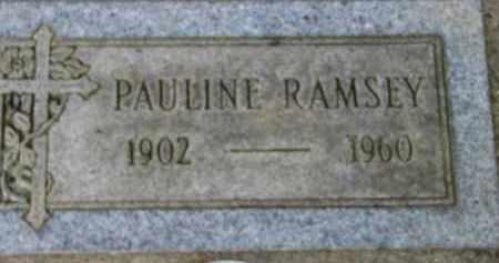 RAMSEY, PAULINE - Washington County, Oregon   PAULINE RAMSEY - Oregon Gravestone Photos