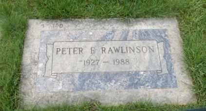 RAWLINSON, PETER F - Washington County, Oregon | PETER F RAWLINSON - Oregon Gravestone Photos