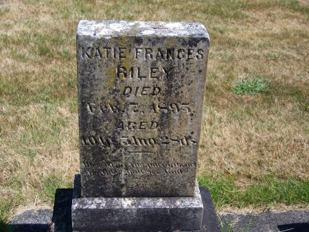 RILEY, KATIE FRANCES - Washington County, Oregon | KATIE FRANCES RILEY - Oregon Gravestone Photos