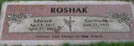 ROSHAK, GERTRUDE - Washington County, Oregon   GERTRUDE ROSHAK - Oregon Gravestone Photos