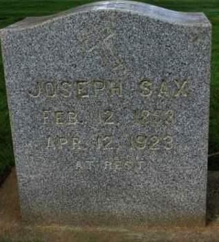 SAX, JOSEPH - Washington County, Oregon   JOSEPH SAX - Oregon Gravestone Photos