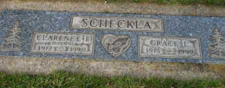 SCHECKLA, CLARENCE E. - Washington County, Oregon | CLARENCE E. SCHECKLA - Oregon Gravestone Photos
