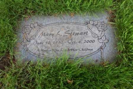STEWART, MARY L - Washington County, Oregon | MARY L STEWART - Oregon Gravestone Photos