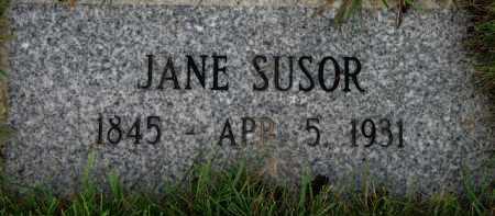 SUSOR, JANE - Washington County, Oregon   JANE SUSOR - Oregon Gravestone Photos
