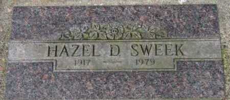 SWEEK, HAZEL D. - Washington County, Oregon | HAZEL D. SWEEK - Oregon Gravestone Photos