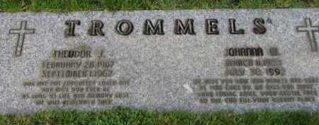 TROMMELS, THEODOR J. - Washington County, Oregon | THEODOR J. TROMMELS - Oregon Gravestone Photos