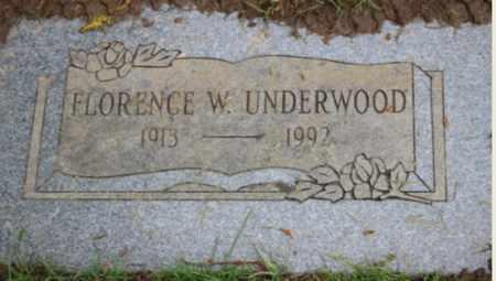 UNDERWOOD, FLORENCE W - Washington County, Oregon   FLORENCE W UNDERWOOD - Oregon Gravestone Photos