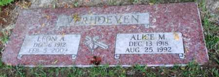 VERHOEVEN, ALICE M - Washington County, Oregon | ALICE M VERHOEVEN - Oregon Gravestone Photos