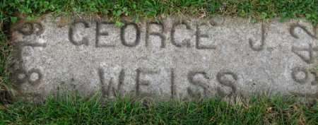 WEISS, GEORGE J. - Washington County, Oregon | GEORGE J. WEISS - Oregon Gravestone Photos