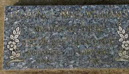 WILLIAMS, FLORENCE MAE - Washington County, Oregon | FLORENCE MAE WILLIAMS - Oregon Gravestone Photos