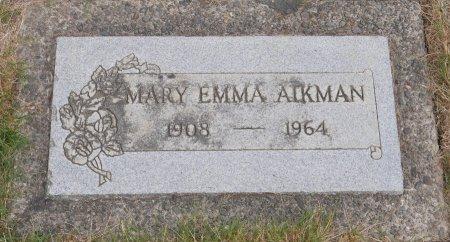 AIKMAN, MARY EMMA - Yamhill County, Oregon | MARY EMMA AIKMAN - Oregon Gravestone Photos