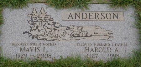 ANDERSON, MAVIS L - Yamhill County, Oregon   MAVIS L ANDERSON - Oregon Gravestone Photos